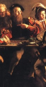 caravaggio-the-calling-of-saint-matthew LEGS DETAIL