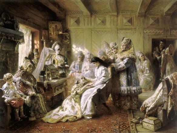 Russian Bride's Attire by Konstantin Makovsky