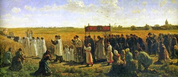 Blessing the Wheat in Artois 1857 Jules Breton