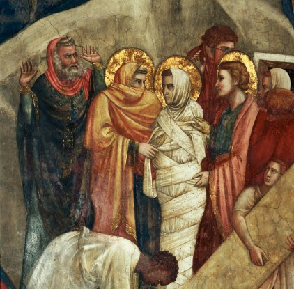 Detail of Fresco Depicting Resurrection of Lazarus from Life of Saint Mary Magdalene Attributed to Giotto, Palmerino di Guido and Others