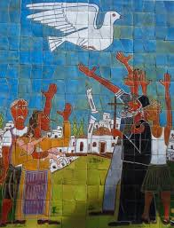 peace mural-refugees