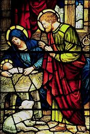 Nativity stained glass-Calvary Episcopal Church, Summit, New Jersey