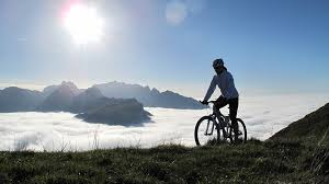 bicycle above the clouds