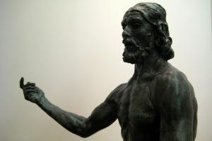 Rodin-St John the Baptist Preaching (detail)