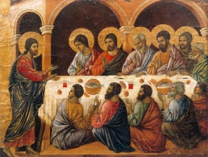 Duccio di Buoninsegna-Appearance while the Apostles are at Table