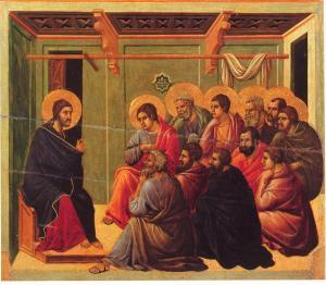 Christ_Taking_Leave_of_the_Apostles-Ducchio de Buoninsegna