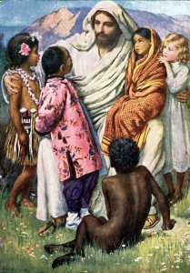 Jesus comforting the children