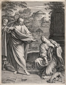 V0034860 The Canaanite (or Syrophoenician) woman asks Christ to cure