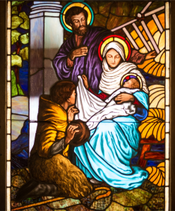 Nativity stained glass-St. Mary Star of the Sea Duluth MN