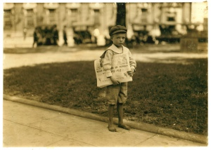 newspaper boy-lewis wickes hine