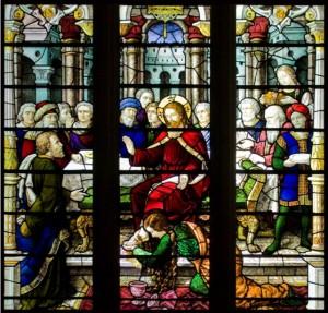 Mary anoints Jesus' feet-Bath Abbey