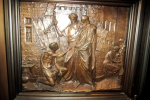 Paul and Silas-Trinity Wall Street bronze relief
