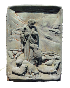 Good Shepherd carved stone-cropped