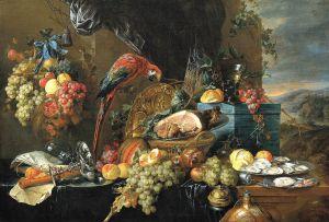 heem2c_jan_davidsz._de_-_a_richly_laid_table_with_parrots_-_c._1650