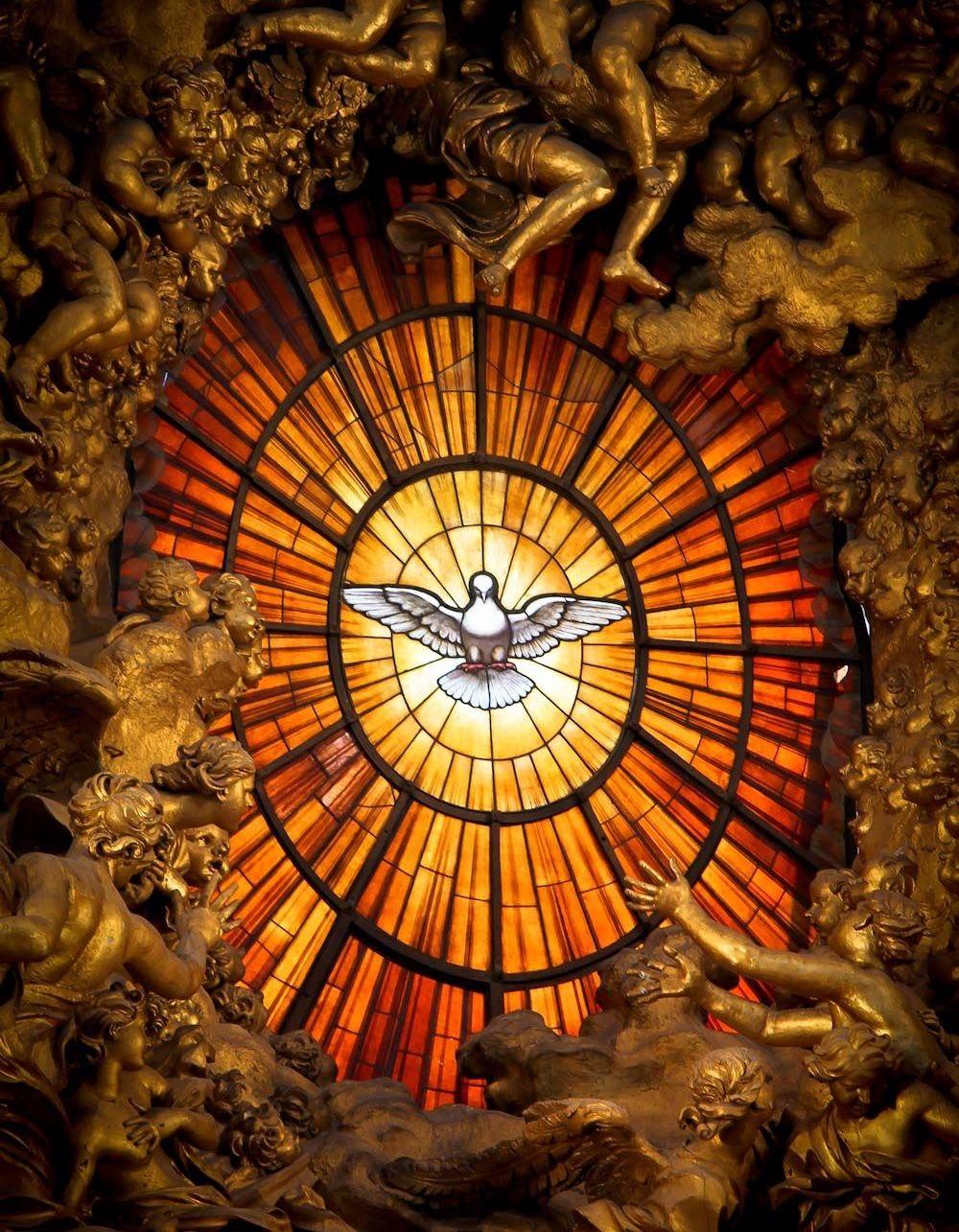 Bernini Holy Spirit detail